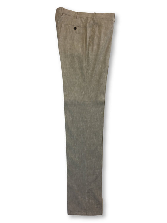 Pantaloni Torino PT01 slim fit trousers in beige wool/linen- khakisurfer.com Latest menswear designer brands added include Eton, Etro, Agave Denim, Pal Zileri, Circle of Gentlemen, Ralph Lauren, Scotch and Soda, Hugo Boss, Armani Jeans, Armani Collezioni.
