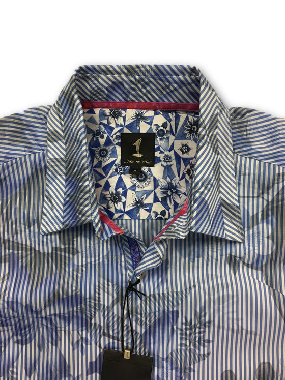 1...like no other white and blue floral cotton shirt- khakisurfer.com Latest menswear designer brands added include Eton, Etro, Agave Denim, Pal Zileri, Circle of Gentlemen, Ralph Lauren, Scotch and Soda, Hugo Boss, Armani Jeans, Armani Collezioni.