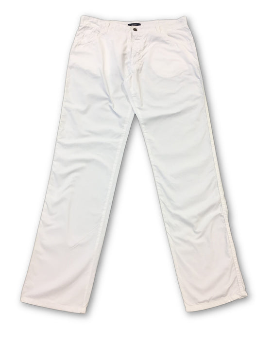 Pal Zileri Concept jeans in lightweight white cotton- khakisurfer.com Latest menswear designer brands added include Eton, Etro, Agave Denim, Pal Zileri, Circle of Gentlemen, Ralph Lauren, Scotch and Soda, Hugo Boss, Armani Jeans, Armani Collezioni.