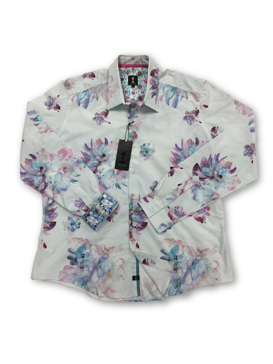 1...like no other pale blue floral pattern cotton shirt- khakisurfer.com Latest menswear designer brands added include Eton, Etro, Agave Denim, Pal Zileri, Circle of Gentlemen, Ralph Lauren, Scotch and Soda, Hugo Boss, Armani Jeans, Armani Collezioni.