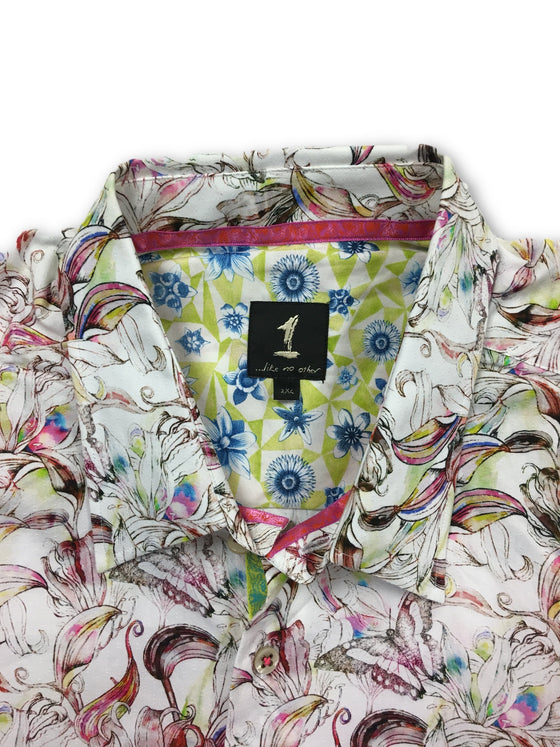 1...like no other pink floral cotton shirt- khakisurfer.com Latest menswear designer brands added include Eton, Etro, Agave Denim, Pal Zileri, Circle of Gentlemen, Ralph Lauren, Scotch and Soda, Hugo Boss, Armani Jeans, Armani Collezioni.