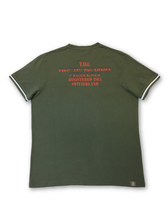 Strellson Swiss Cross T-shirt in khaki- khakisurfer.com Latest menswear designer brands added include Eton, Etro, Agave Denim, Pal Zileri, Circle of Gentlemen, Ralph Lauren, Scotch and Soda, Hugo Boss, Armani Jeans, Armani Collezioni.