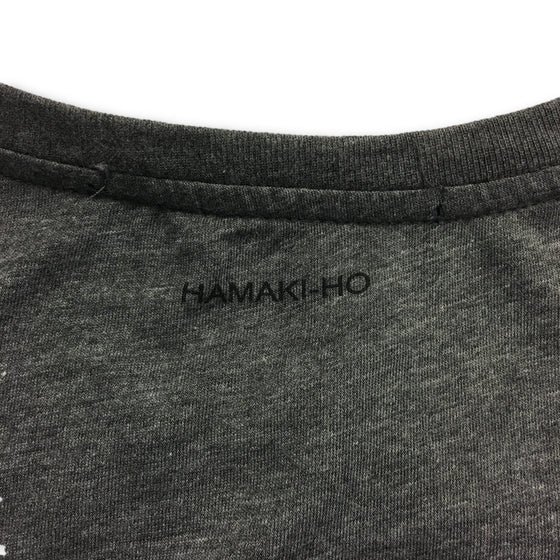Hamaki-Ho T-shirt in dark grey picture print- khakisurfer.com Latest menswear designer brands added include Eton, Etro, Agave Denim, Pal Zileri, Circle of Gentlemen, Ralph Lauren, Scotch and Soda, Hugo Boss, Armani Jeans, Armani Collezioni.