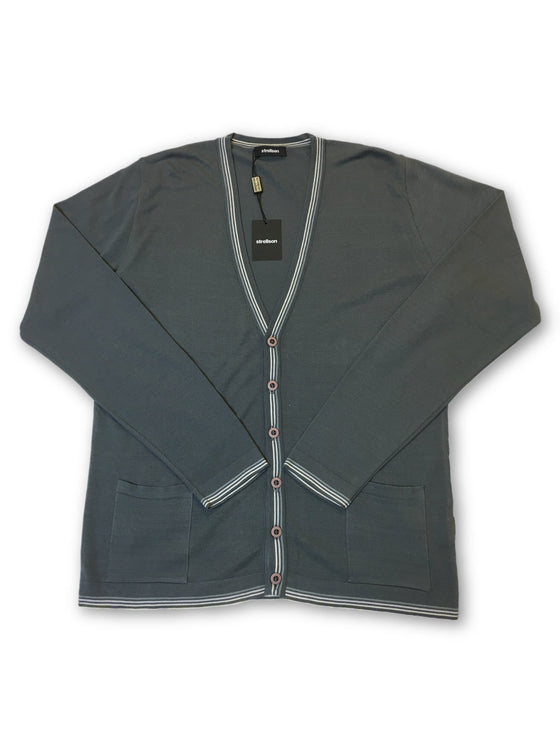Strellson knitwear cardigan in grey- khakisurfer.com Latest menswear designer brands added include Eton, Etro, Agave Denim, Pal Zileri, Circle of Gentlemen, Ralph Lauren, Scotch and Soda, Hugo Boss, Armani Jeans, Armani Collezioni.