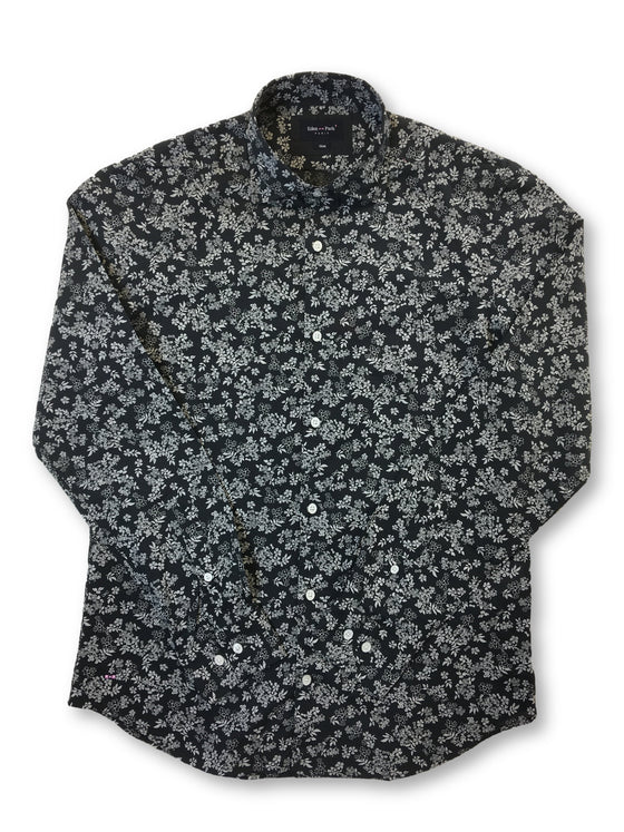 Eden Park slim fit shirt in black and white floral print- khakisurfer.com Latest menswear designer brands added include Eton, Etro, Agave Denim, Pal Zileri, Circle of Gentlemen, Ralph Lauren, Scotch and Soda, Hugo Boss, Armani Jeans, Armani Collezioni.