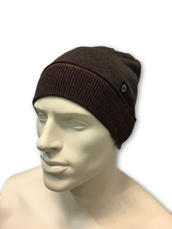 Agave Deep Cove beanie hat in grey and red- khakisurfer.com Latest menswear designer brands added include Eton, Etro, Agave Denim, Pal Zileri, Circle of Gentlemen, Ralph Lauren, Scotch and Soda, Hugo Boss, Armani Jeans, Armani Collezioni.