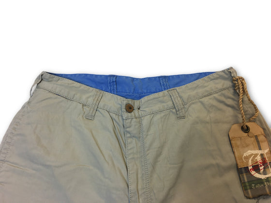 Tailor Vintage reversible shorts in plain blue- khakisurfer.com Latest menswear designer brands added include Eton, Etro, Agave Denim, Pal Zileri, Circle of Gentlemen, Ralph Lauren, Scotch and Soda, Hugo Boss, Armani Jeans, Armani Collezioni.