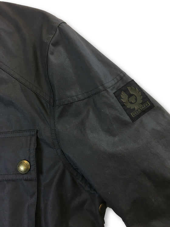Belstaff Roadmaster Winward dry wax jacket in grey- khakisurfer.com Latest menswear designer brands added include Eton, Etro, Agave Denim, Pal Zileri, Circle of Gentlemen, Ralph Lauren, Scotch and Soda, Hugo Boss, Armani Jeans, Armani Collezioni.