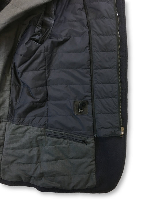 GCR boiled wool jacket with removable padding in navy blue- khakisurfer.com Latest menswear designer brands added include Eton, Etro, Agave Denim, Pal Zileri, Circle of Gentlemen, Ralph Lauren, Scotch and Soda, Hugo Boss, Armani Jeans, Armani Collezioni.