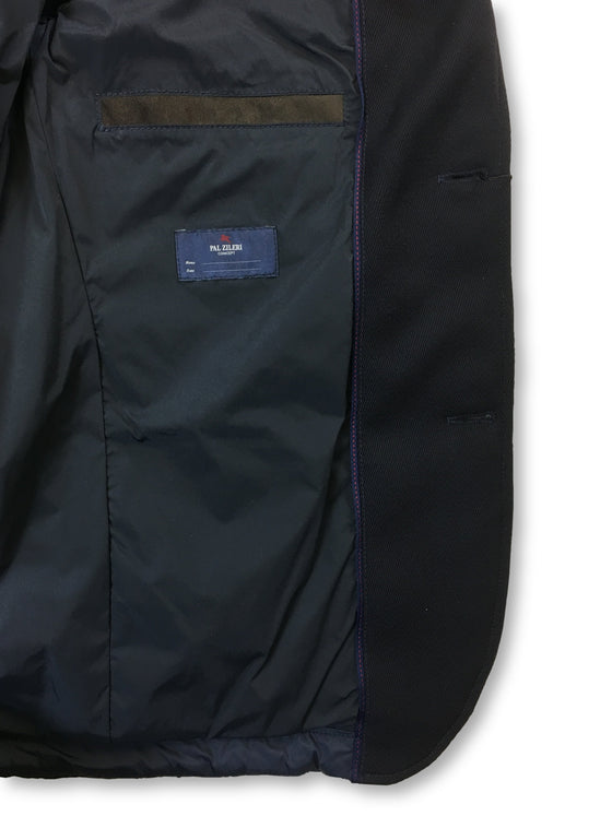 Pal Zileri quilted jacket in blue nylon- khakisurfer.com Latest menswear designer brands added include Eton, Etro, Agave Denim, Pal Zileri, Circle of Gentlemen, Ralph Lauren, Scotch and Soda, Hugo Boss, Armani Jeans, Armani Collezioni.