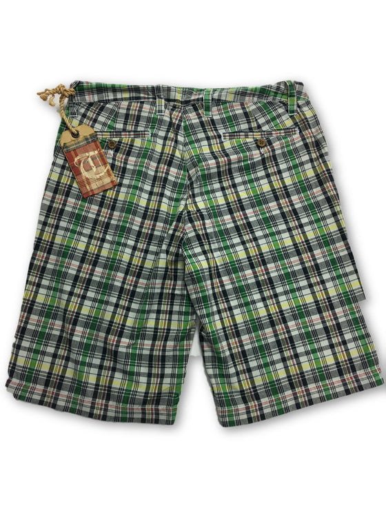 Tailor Vintage Cotton Tartan Shorts in Green- khakisurfer.com Latest menswear designer brands added include Eton, Etro, Agave Denim, Pal Zileri, Circle of Gentlemen, Ralph Lauren, Scotch and Soda, Hugo Boss, Armani Jeans, Armani Collezioni.