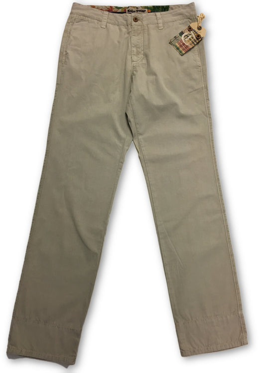 Tailor Vintage Enzyme Washed Chino in Stone Beige- khakisurfer.com Latest menswear designer brands added include Eton, Etro, Agave Denim, Pal Zileri, Circle of Gentlemen, Ralph Lauren, Scotch and Soda, Hugo Boss, Armani Jeans, Armani Collezioni.