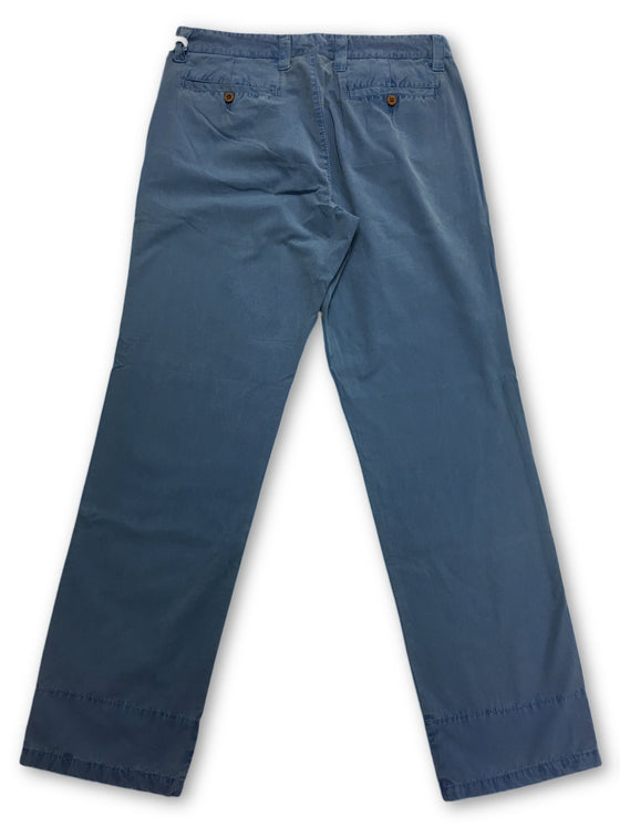 Tailor Vintage chinos in blue enzyme wash- khakisurfer.com Latest menswear designer brands added include Eton, Etro, Agave Denim, Pal Zileri, Circle of Gentlemen, Ralph Lauren, Scotch and Soda, Hugo Boss, Armani Jeans, Armani Collezioni.