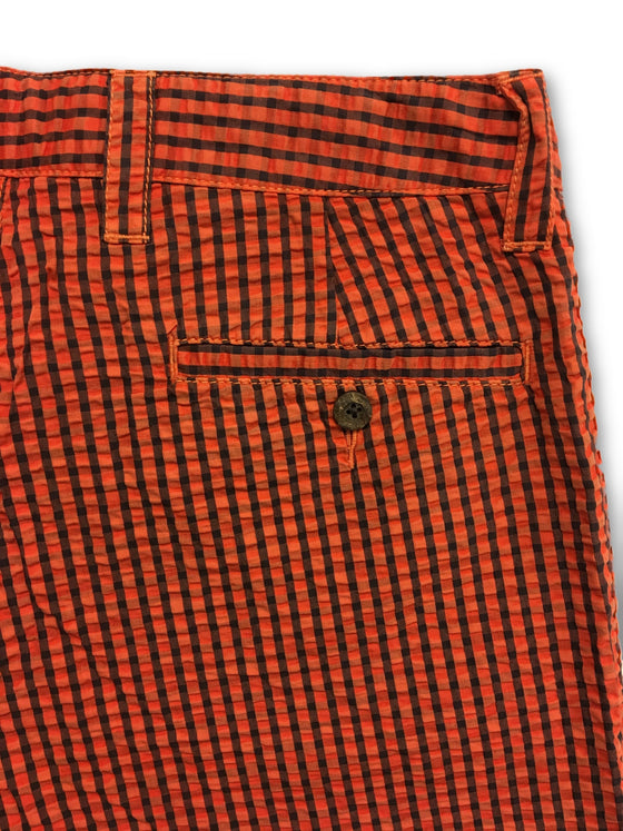 Tailor Vintage striped shorts in orange and navy