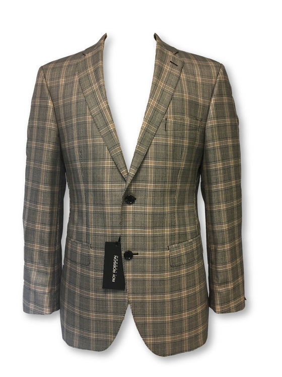 Roy Robson jacket in grey/brown glen check
