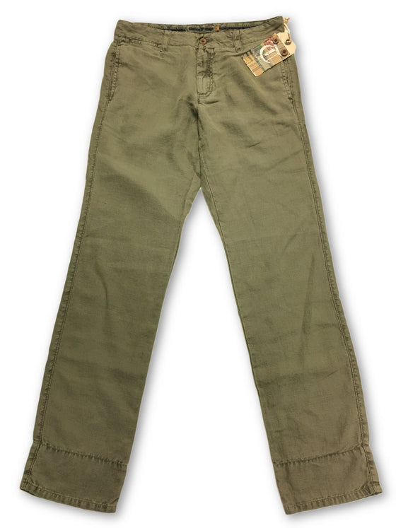 Tailor Vintage Linen Chino in Army Green- khakisurfer.com Latest menswear designer brands added include Eton, Etro, Agave Denim, Pal Zileri, Circle of Gentlemen, Ralph Lauren, Scotch and Soda, Hugo Boss, Armani Jeans, Armani Collezioni.