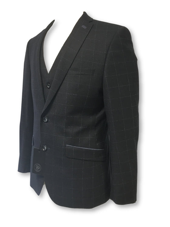 Roy Robson slim fit jacket with waistcoat in navy check- khakisurfer.com Latest menswear designer brands added include Eton, Etro, Agave Denim, Pal Zileri, Circle of Gentlemen, Ralph Lauren, Scotch and Soda, Hugo Boss, Armani Jeans, Armani Collezioni.