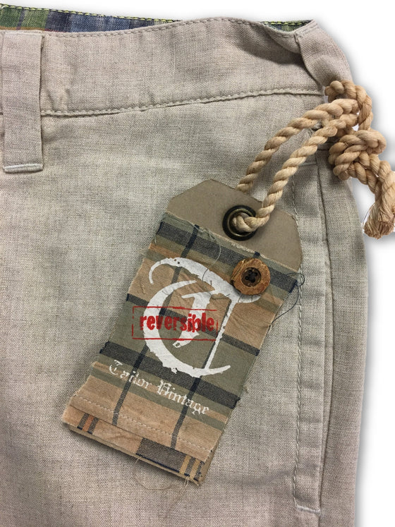 Tailor Vintage Linen Classic Plaid Shorts in Beige- khakisurfer.com Latest menswear designer brands added include Eton, Etro, Agave Denim, Pal Zileri, Circle of Gentlemen, Ralph Lauren, Scotch and Soda, Hugo Boss, Armani Jeans, Armani Collezioni.