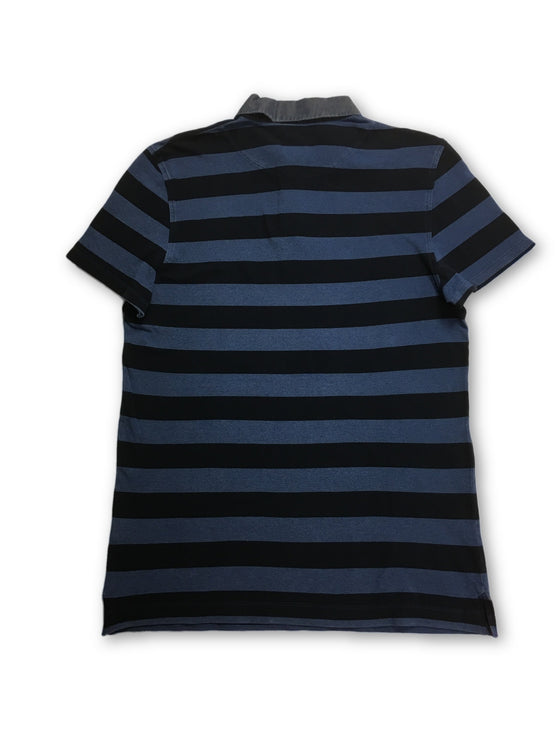 Jaggy polo in blue and navy stripe