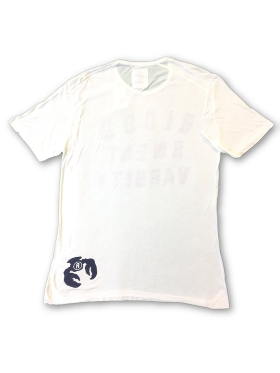 Blue Blood 'Fighter' T-Shirt in white with printed logo