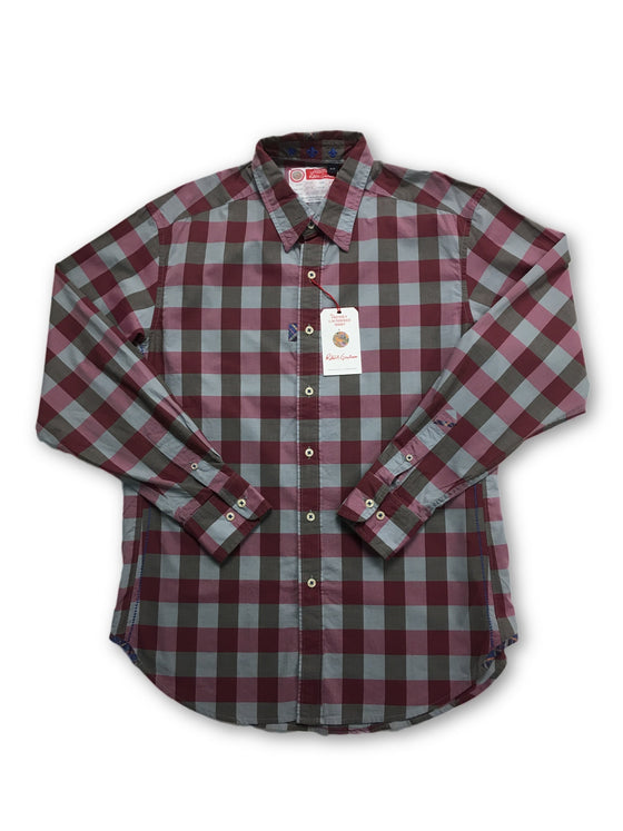 Robert Graham Freshly Laundered 'Oak' shirt red/grey check- khakisurfer.com Latest menswear designer brands added include Eton, Etro, Agave Denim, Pal Zileri, Circle of Gentlemen, Ralph Lauren, Scotch and Soda, Hugo Boss, Armani Jeans, Armani Collezioni.