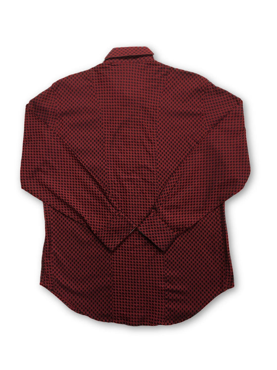 Robert Graham 'Burroughs' shirt in red geometric design- khakisurfer.com Latest menswear designer brands added include Eton, Etro, Agave Denim, Pal Zileri, Circle of Gentlemen, Ralph Lauren, Scotch and Soda, Hugo Boss, Armani Jeans, Armani Collezioni.
