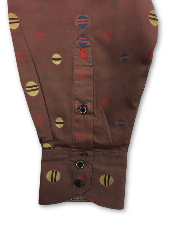 Robert Graham Kosmic Blues Limited Edition shirt in brown/red