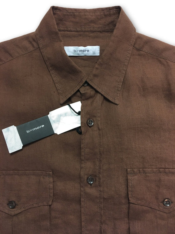 B>More Bastia slim fit shirt in brown- khakisurfer.com Latest menswear designer brands added include Eton, Etro, Agave Denim, Pal Zileri, Circle of Gentlemen, Ralph Lauren, Scotch and Soda, Hugo Boss, Armani Jeans, Armani Collezioni.