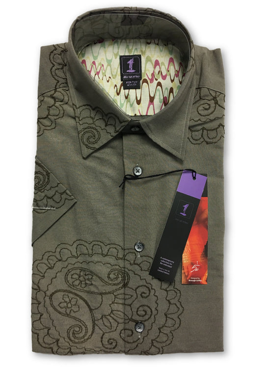 1...Like No Other Limited Edition slim shirt in brown paisley- khakisurfer.com Latest menswear designer brands added include Eton, Etro, Agave Denim, Pal Zileri, Circle of Gentlemen, Ralph Lauren, Scotch and Soda, Hugo Boss, Armani Jeans, Armani Collezioni.