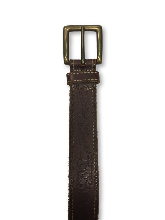 Agave leather belt in brown subtle pattern- khakisurfer.com Latest menswear designer brands added include Eton, Etro, Agave Denim, Pal Zileri, Circle of Gentlemen, Ralph Lauren, Scotch and Soda, Hugo Boss, Armani Jeans, Armani Collezioni.