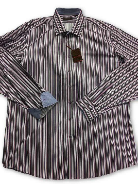 Sand Cotton Candy Stripe Long Sleeve Shirt in Purple- khakisurfer.com Latest menswear designer brands added include Eton, Etro, Agave Denim, Pal Zileri, Circle of Gentlemen, Ralph Lauren, Scotch and Soda, Hugo Boss, Armani Jeans, Armani Collezioni.