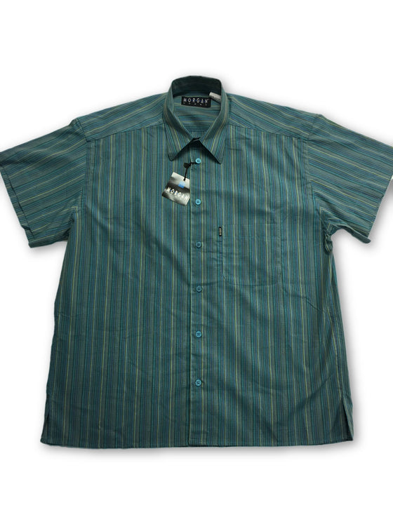 Morgan Homme Cotton Shirt in Green- khakisurfer.com Latest menswear designer brands added include Eton, Etro, Agave Denim, Pal Zileri, Circle of Gentlemen, Ralph Lauren, Scotch and Soda, Hugo Boss, Armani Jeans, Armani Collezioni.