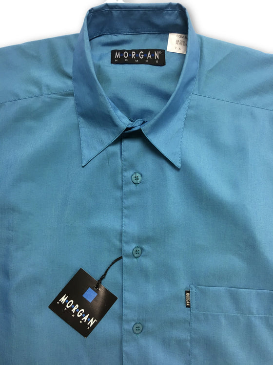 Morgan Homme short sleeve shirt blue- khakisurfer.com Latest menswear designer brands added include Eton, Etro, Agave Denim, Pal Zileri, Circle of Gentlemen, Ralph Lauren, Scotch and Soda, Hugo Boss, Armani Jeans, Armani Collezioni.