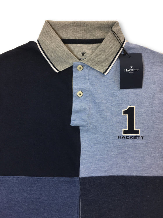 Hackett tailored fit polo in multi blue marl quad block design- khakisurfer.com Latest menswear designer brands added include Eton, Etro, Agave Denim, Pal Zileri, Circle of Gentlemen, Ralph Lauren, Scotch and Soda, Hugo Boss, Armani Jeans, Armani Collezioni.