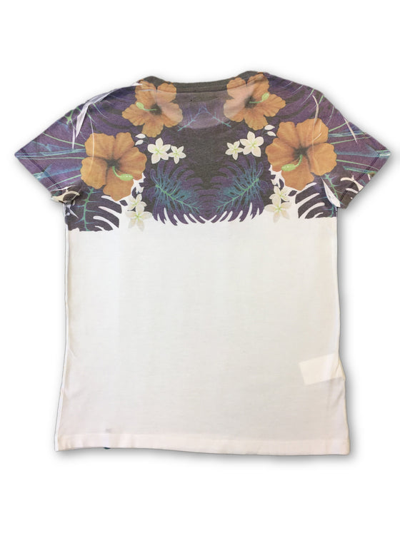 Gaudi 'Wild Vision' T-shirt in white with purple floral print- khakisurfer.com Latest menswear designer brands added include Eton, Etro, Agave Denim, Pal Zileri, Circle of Gentlemen, Ralph Lauren, Scotch and Soda, Hugo Boss, Armani Jeans, Armani Collezioni.