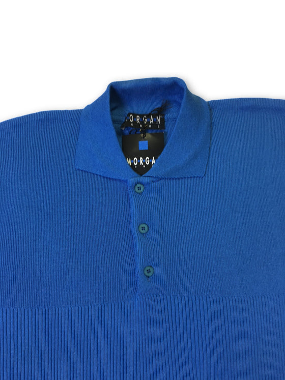 Morgan Homme Samba polo in blue- khakisurfer.com Latest menswear designer brands added include Eton, Etro, Agave Denim, Pal Zileri, Circle of Gentlemen, Ralph Lauren, Scotch and Soda, Hugo Boss, Armani Jeans, Armani Collezioni.