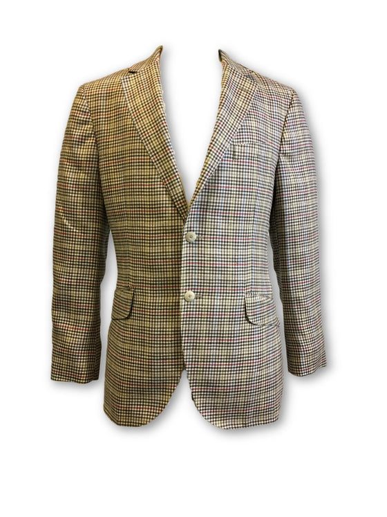 Hackett London semi-structured jacket in beige check- khakisurfer.com Latest menswear designer brands added include Eton, Etro, Agave Denim, Pal Zileri, Circle of Gentlemen, Ralph Lauren, Scotch and Soda, Hugo Boss, Armani Jeans, Armani Collezioni.