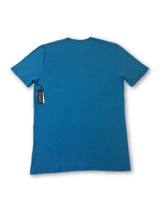 Velvet T-Shirt in blue