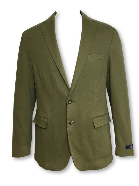 Ralph Lauren Polo semi-structured brushed twill jacket in olive green- khakisurfer.com Latest menswear designer brands added include Eton, Etro, Agave Denim, Pal Zileri, Circle of Gentlemen, Ralph Lauren, Scotch and Soda, Hugo Boss, Armani Jeans, Armani Collezioni.