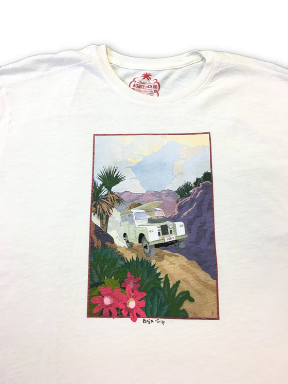 Agave Denim Limited Edition 'Baja Trip' T-shirt in cream- khakisurfer.com Latest menswear designer brands added include Eton, Etro, Agave Denim, Pal Zileri, Circle of Gentlemen, Ralph Lauren, Scotch and Soda, Hugo Boss, Armani Jeans, Armani Collezioni.