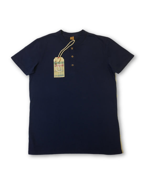 Tailor Vintage Henley T-shirt in navy