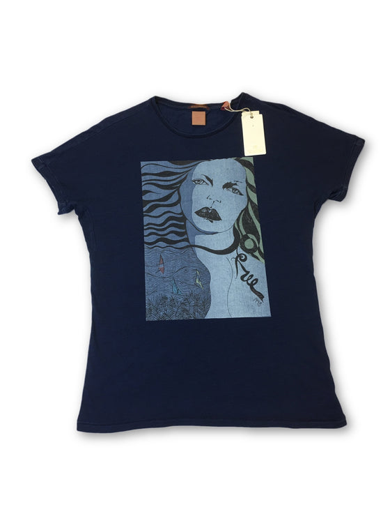 Scotch & Soda anti fit T-shirt in dark blue
