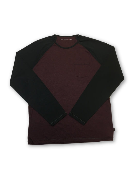 John Varvatos Star USA long sleeve T-shirt in burgundy