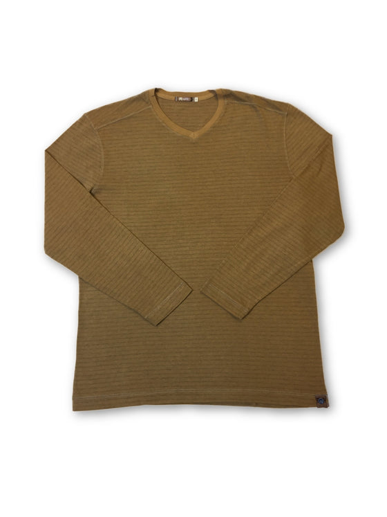 Agave Lux 'Steamboat' T-shirt in light brown subtle stripe- khakisurfer.com Latest menswear designer brands added include Eton, Etro, Agave Denim, Pal Zileri, Circle of Gentlemen, Ralph Lauren, Scotch and Soda, Hugo Boss, Armani Jeans, Armani Collezioni.