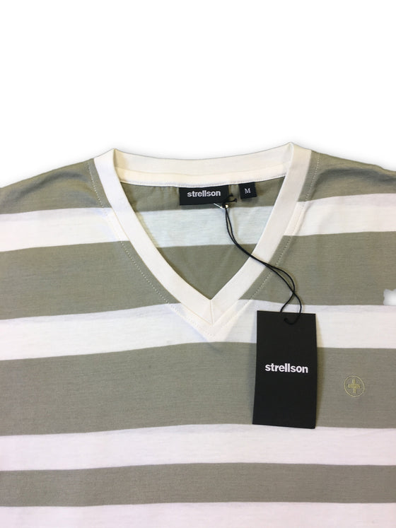 Strellson T-shirt in light khaki and white stripe- khakisurfer.com Latest menswear designer brands added include Eton, Etro, Agave Denim, Pal Zileri, Circle of Gentlemen, Ralph Lauren, Scotch and Soda, Hugo Boss, Armani Jeans, Armani Collezioni.
