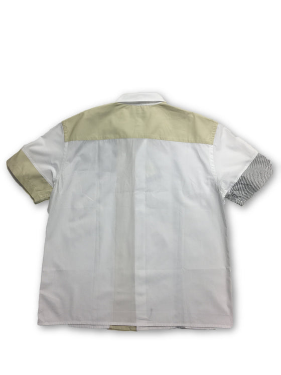 Simultaneous short sleeved shirt in white and beige- khakisurfer.com Latest menswear designer brands added include Eton, Etro, Agave Denim, Pal Zileri, Circle of Gentlemen, Ralph Lauren, Scotch and Soda, Hugo Boss, Armani Jeans, Armani Collezioni.