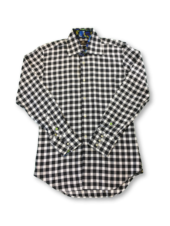 Circle of Gentlemen 'Geoffrey' shirt in grey and white check- khakisurfer.com Latest menswear designer brands added include Eton, Etro, Agave Denim, Pal Zileri, Circle of Gentlemen, Ralph Lauren, Scotch and Soda, Hugo Boss, Armani Jeans, Armani Collezioni.