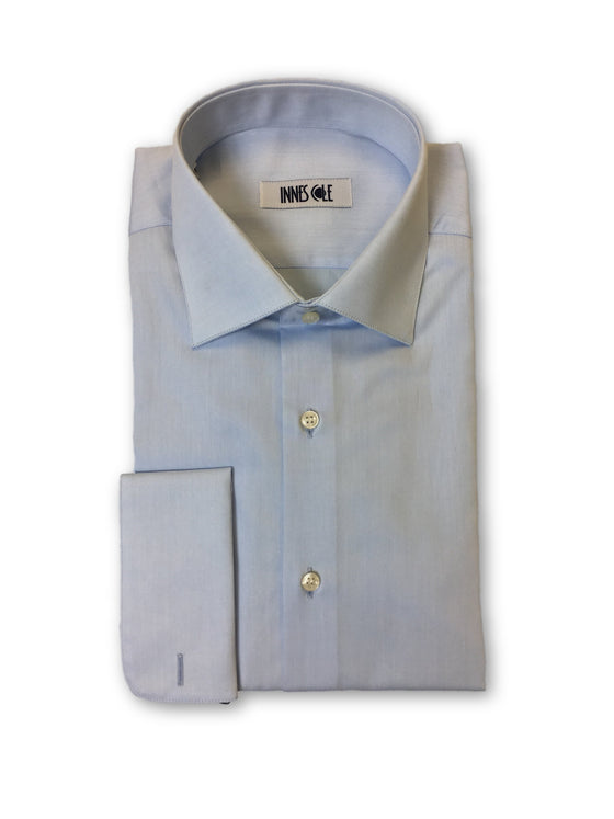 Ingram double cuff shirt in pale blue-khakisurfer.com