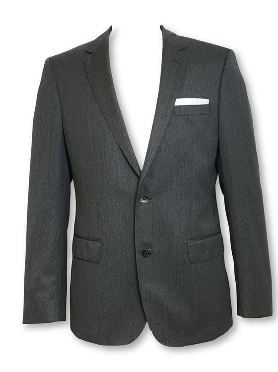HUGO BOSS Hutson fully structured wool jacket in grey subtle sharkskin-khakisurfer.com