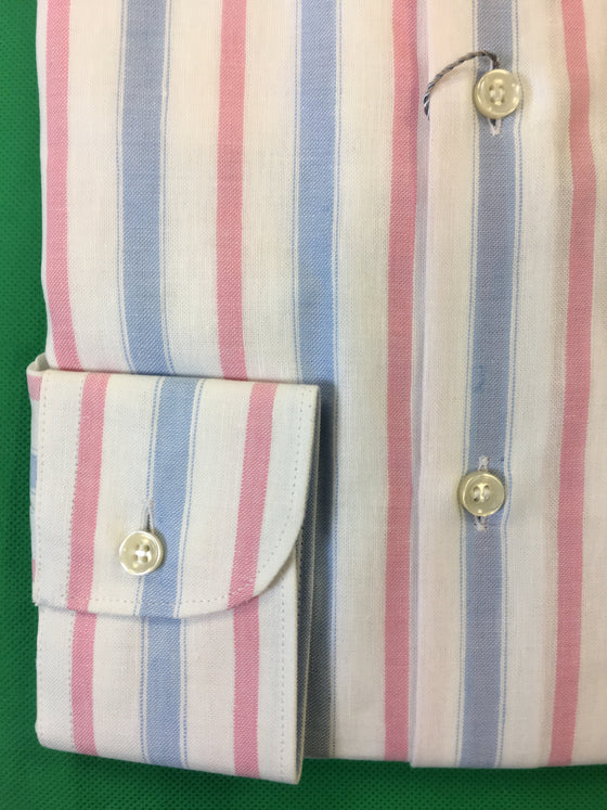 Ingram shirt in white/pink/blue stripe pattern- khakisurfer.com Latest menswear designer brands added include Eton, Etro, Agave Denim, Pal Zileri, Circle of Gentlemen, Ralph Lauren, Scotch and Soda, Hugo Boss, Armani Jeans, Armani Collezioni.